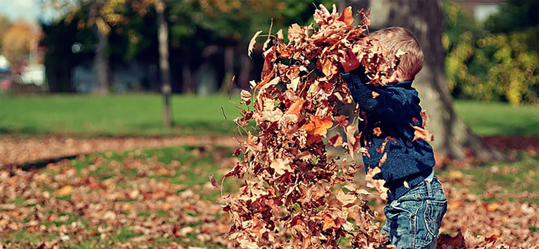 Jouer dehors en automne