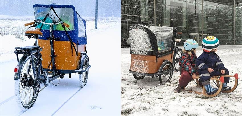 Conseils vélo cargo dans la neige
