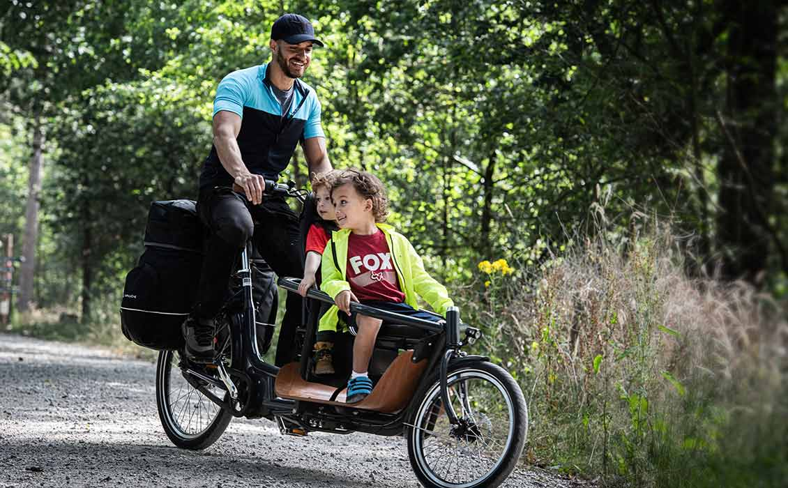 Vélo cargo extra-fin