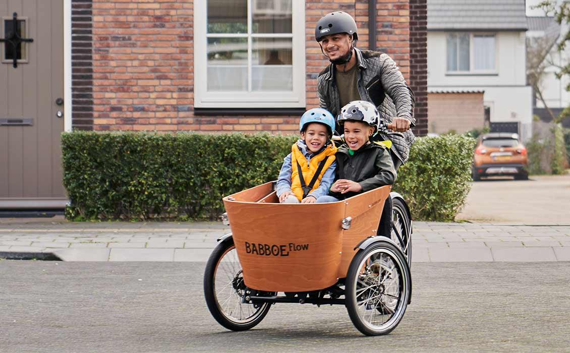 Vélo cargo triporteur avec design unique