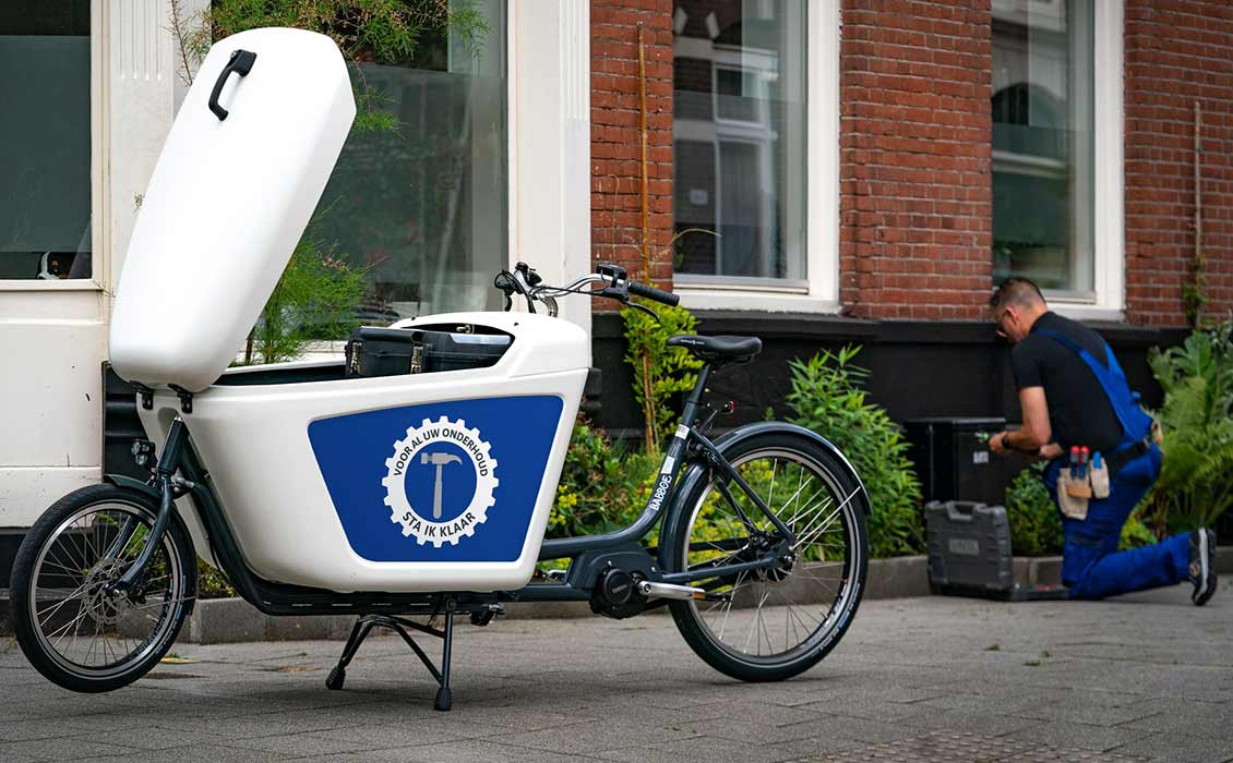 Vélo transporteur avec votre logo