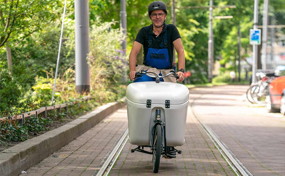 Vélo transporteur rapide pour la ville