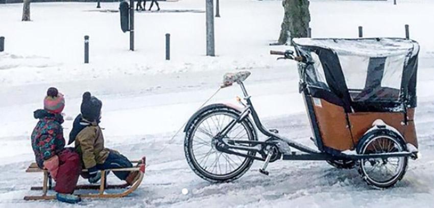 Comment faire du vélo avec un vélo cargo dans la neige ?